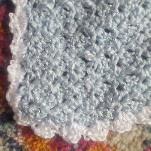 Bedding - 🌼New Handmade Crochet Blue Baby Blanket 52 x 33
